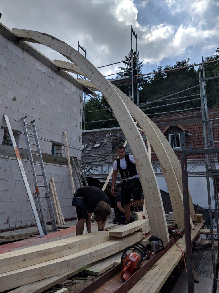 Sanierung des Tonnendaches