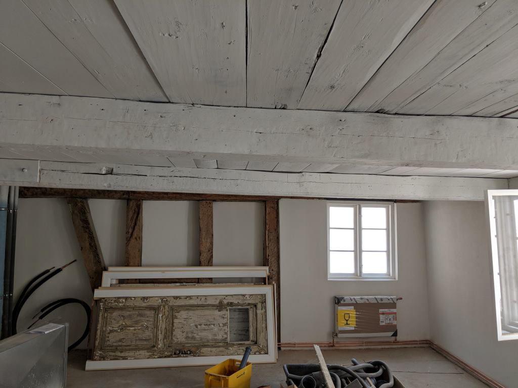 historische Decke und Fachwerk saniert