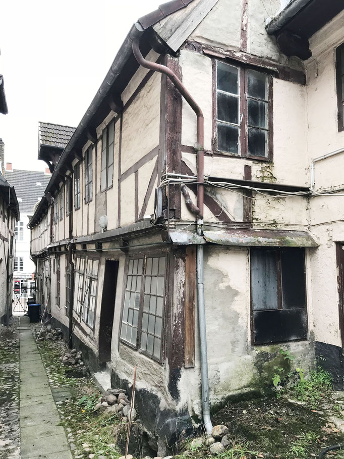 Fachwerkgebäude vor der Sanierung