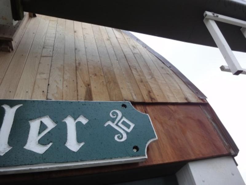 neue Holzverkleidung Mühle Steinadler
