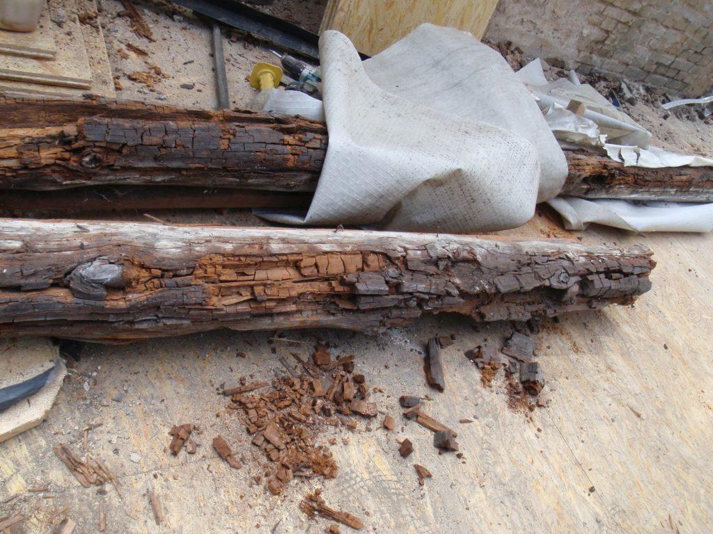 Holz mit Würfelbruch