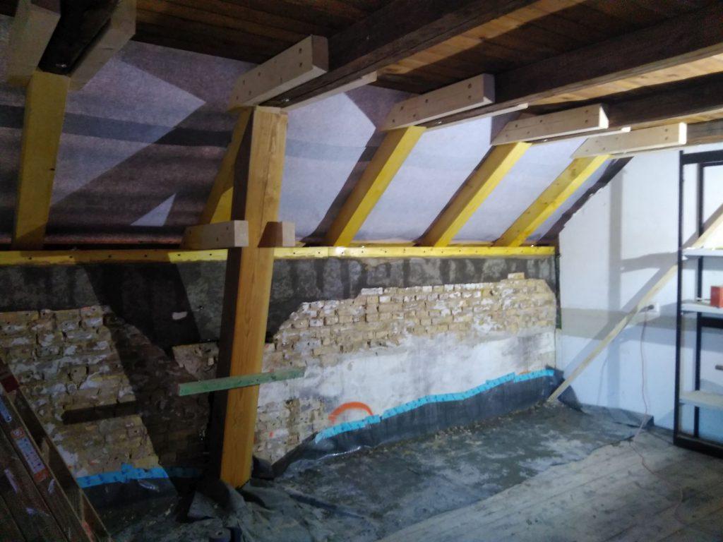 Sanierung Dach innenansicht