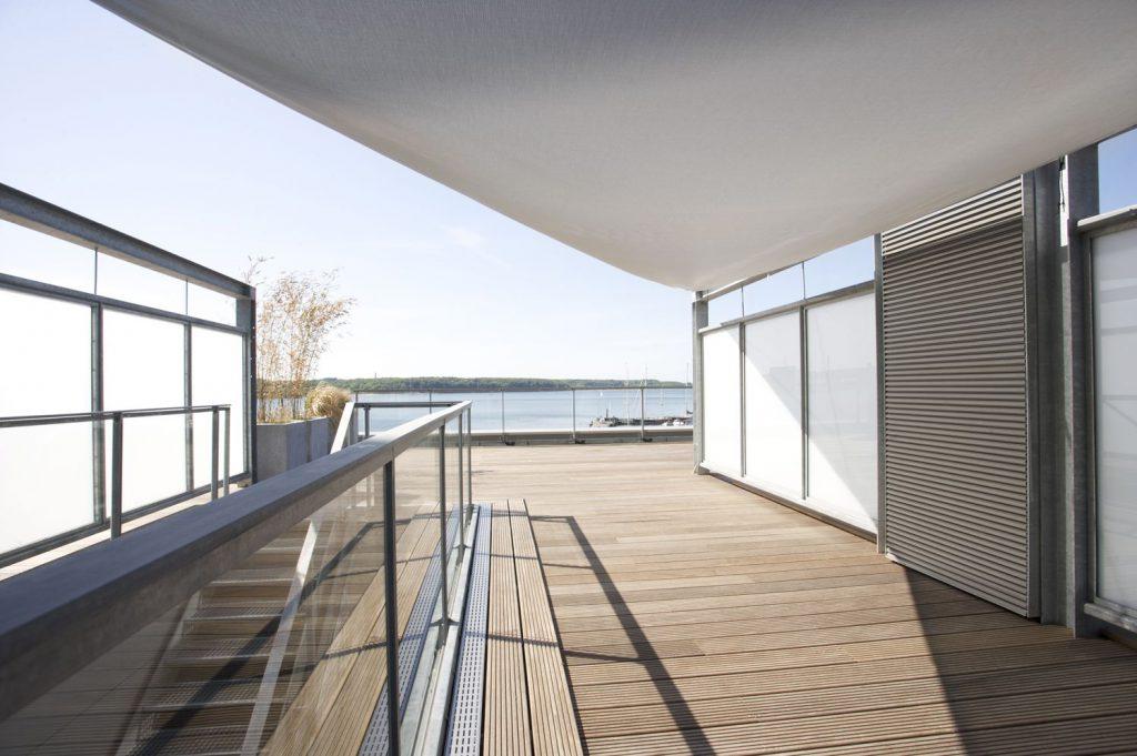 Dachterrasse am Flensburger Hafen