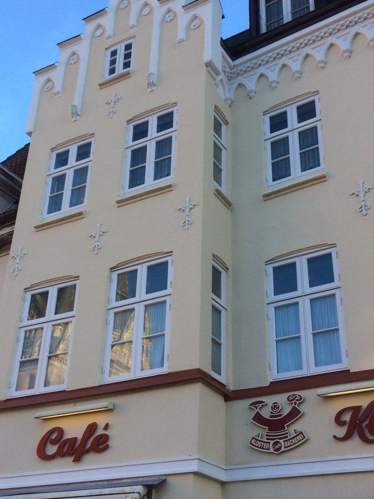 Fassade nach der Sanierung Südermarkt 3 in Flensburg
