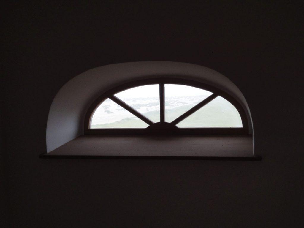 Lehmputz um ein Oberlicht