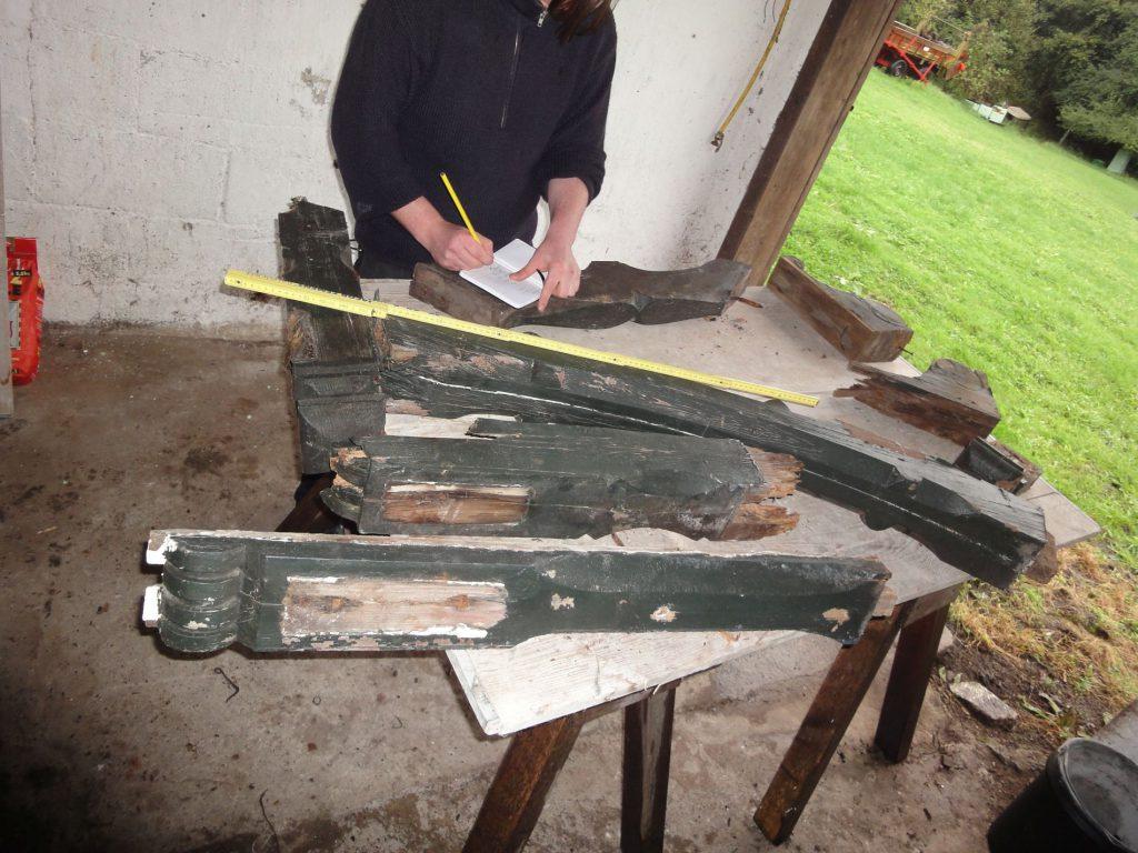 Nummerierung der ausgebauten Holzteile