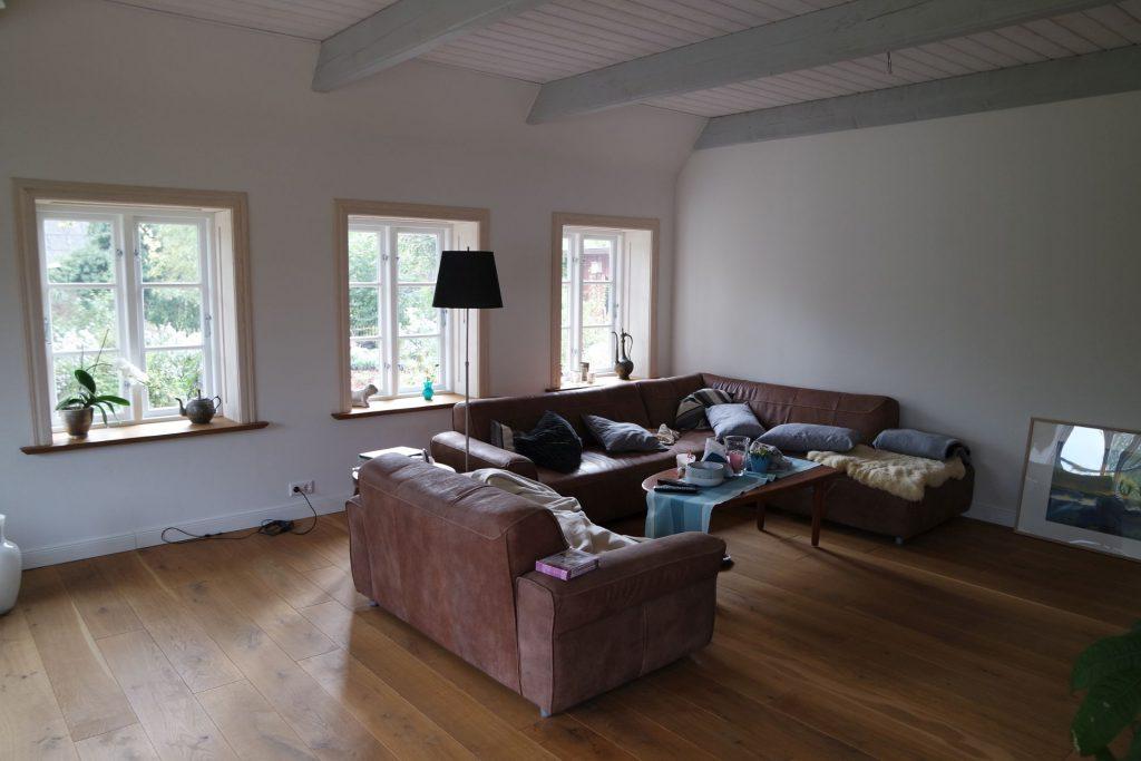 Wandheizung und Lehmputz im Wohnzimmer
