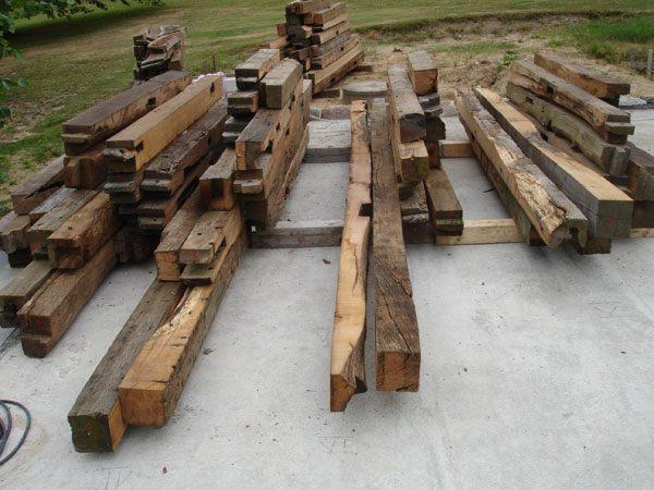 Altholz für Fachwerkbau