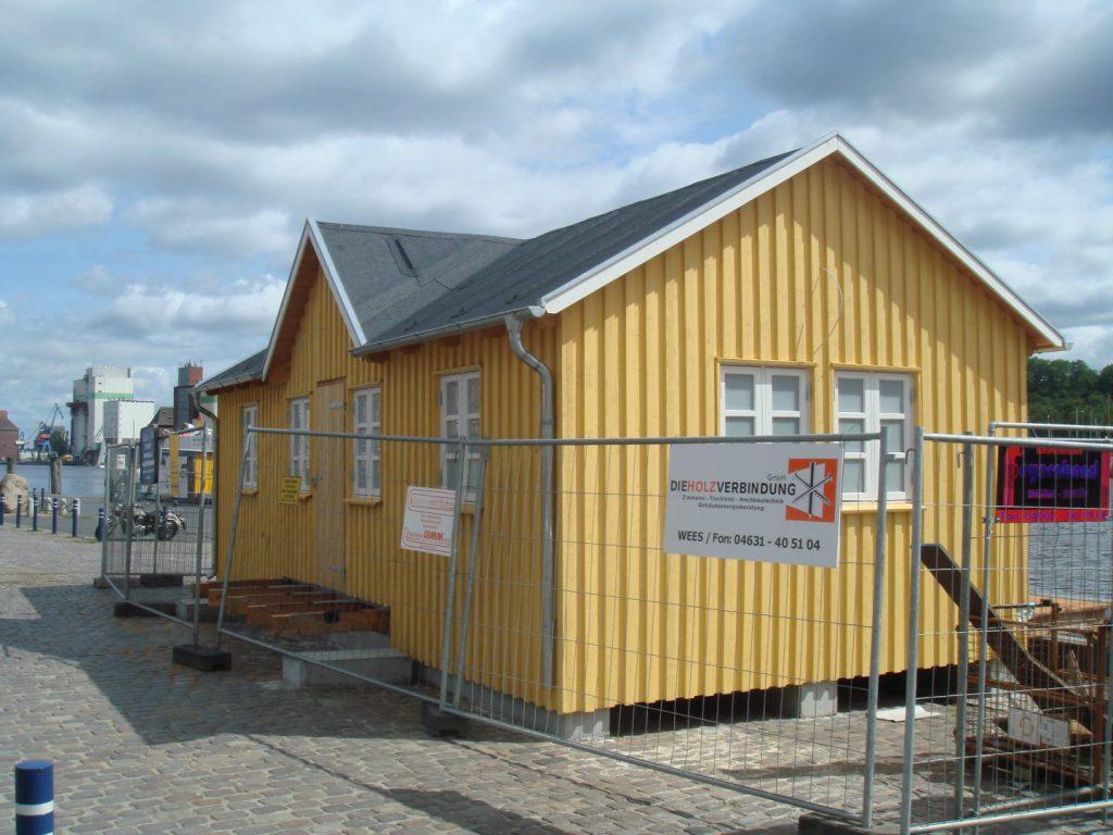 Fertiggestellte Hafenhütte